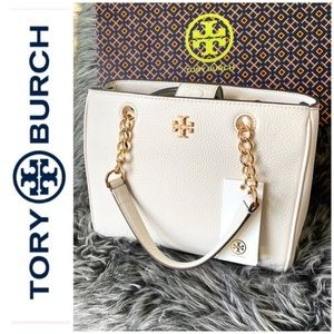 NWT authentic Tory Burch leather Carter satchel
